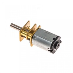 12V 12mm 120 RPM Redüktörlü Mikro DC Motor - Thumbnail