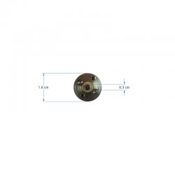 12V 16mm 1200Rpm Gearbox Motor - Thumbnail