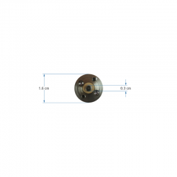 12V 16mm 1500Rpm Gearbox Motor - Thumbnail