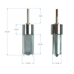 12 V 16 mm 800 RPM Redüktörlü DC Motor - Thumbnail