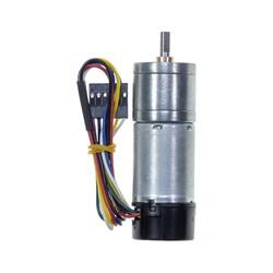 12 V 25 mm 100 RPM Enkoderli Yüksek Güçlü 99:1 Redüktörlü DC Motor - Thumbnail