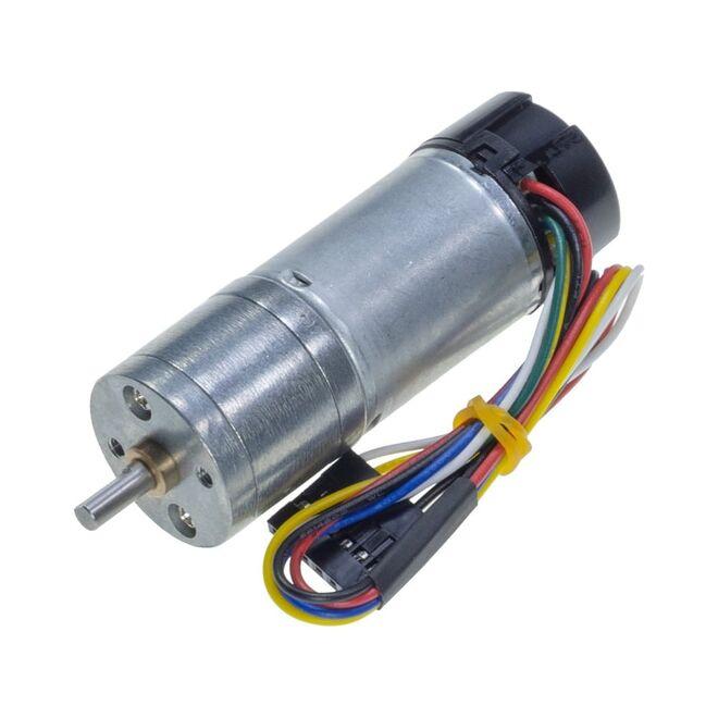 12 V 25 mm 130 RPM Enkoderli Yüksek Güçlü 75:1 Redüktörlü DC Motor
