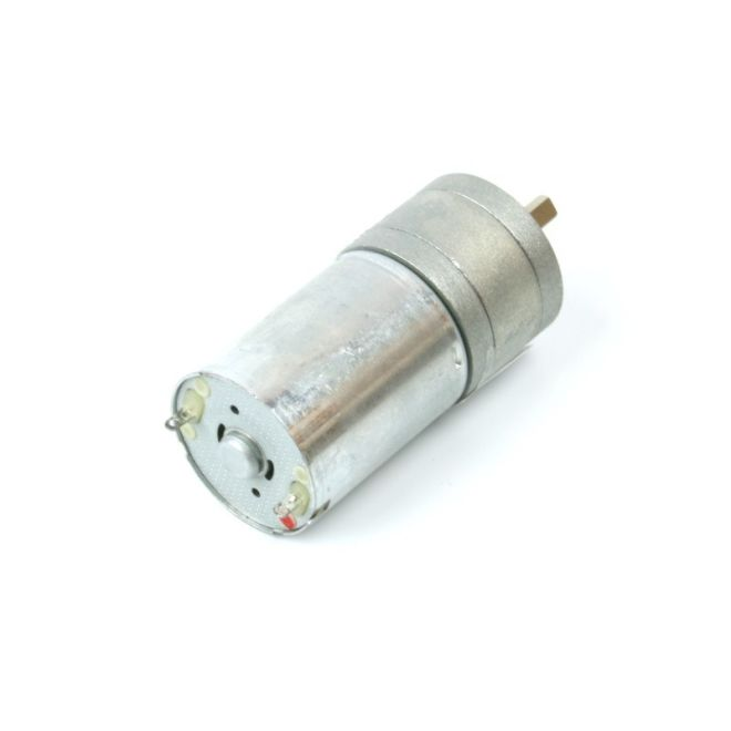12 V 25 mm 130 RPM Yüksek Güçlü 75:1 Redüktörlü DC Motor