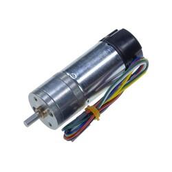 12 V 25 mm 210 RPM Enkoderli Yüksek Güçlü 47:1 Redüktörlü DC Motor - Thumbnail