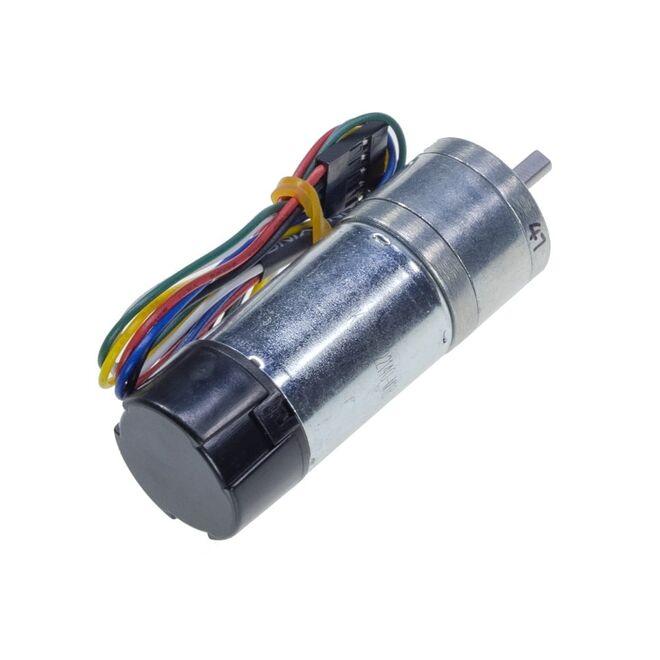 12 V 25 mm 210 RPM Enkoderli Yüksek Güçlü 47:1 Redüktörlü DC Motor