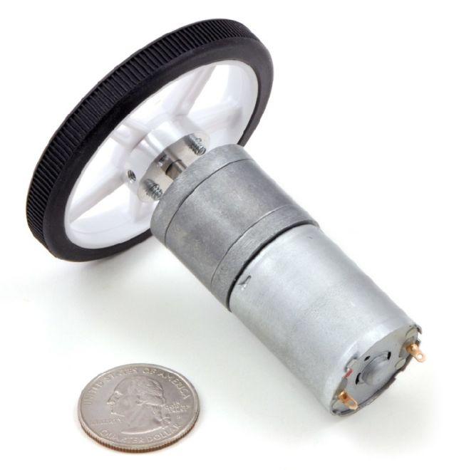 12 V 25 mm 2250 RPM Yüksek Güçlü 4.4:1 Redüktörlü DC Motor