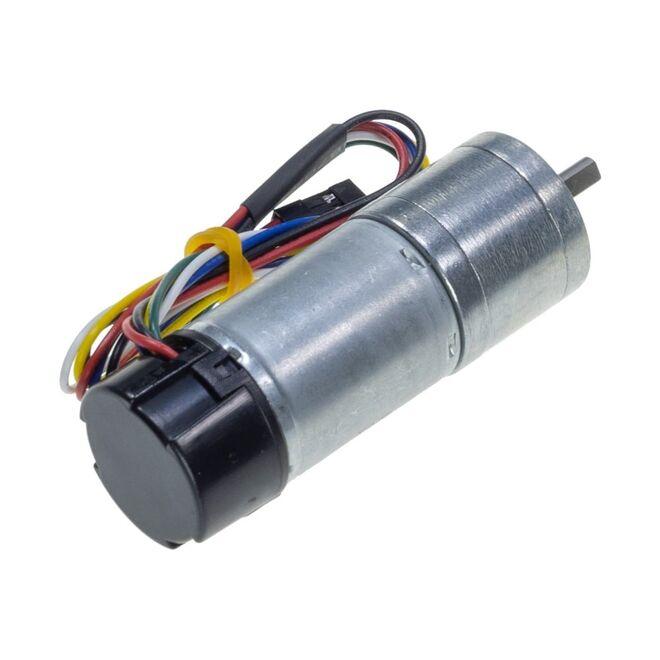 12 V 25 mm 500 RPM Enkoderli Yüksek Güçlü 20.4:1 Redüktörlü DC Motor