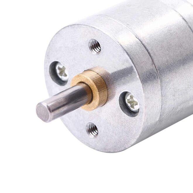 12V 25mm 60 RPM Redüktörlü DC Motor