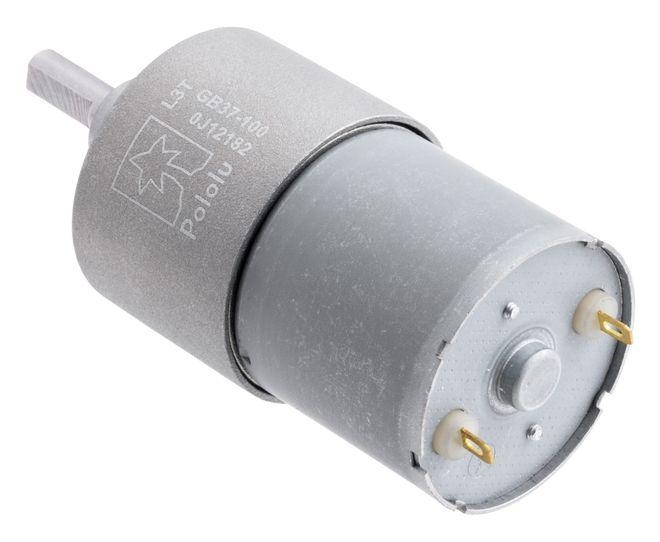 12 V 37 mm 100 RPM 100:1 Redüktörlü DC Motor