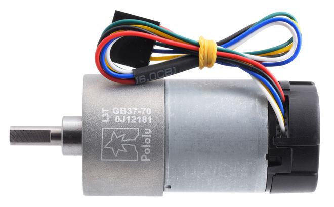 12 V 37 mm 150 RPM Enkoderli 70:1 Redüktörlü DC Motor