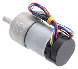 12 V 37 mm 150 RPM Enkoderli 70:1 Redüktörlü DC Motor - Thumbnail