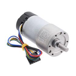 Pololu - 12 V 37 mm 150 RPM Enkoderli 70:1 Redüktörlü DC Motor