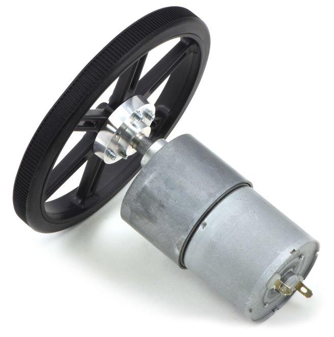 12 V 37 mm 200 RPM 50:1 Redüktörlü DC Motor