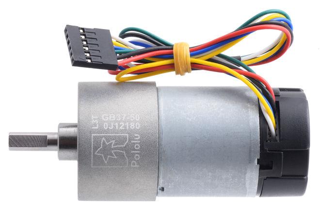 12 V 37 mm 200 RPM Enkoderli 50:1 Redüktörlü DC Motor
