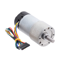 Pololu - 12 V 37 mm 200 RPM Enkoderli 50:1 Redüktörlü DC Motor