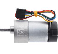 12V 37mm 330 Rpm 30:1 DC GearMotor with Encoder - Thumbnail