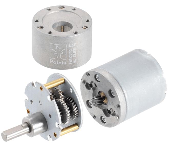 12V 37mm 330 Rpm 30:1 DC GearMotor with Encoder