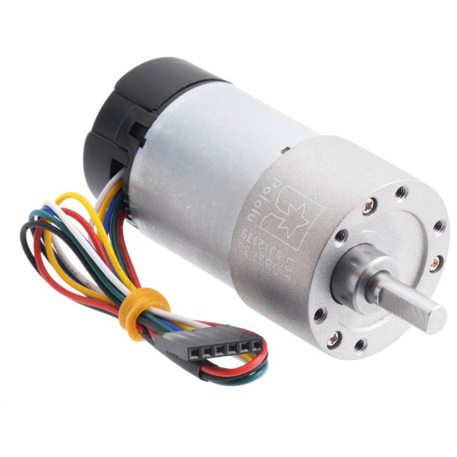 12 V 37 mm 330 RPM Enkoderli 30:1 Redüktörlü DC Motor
