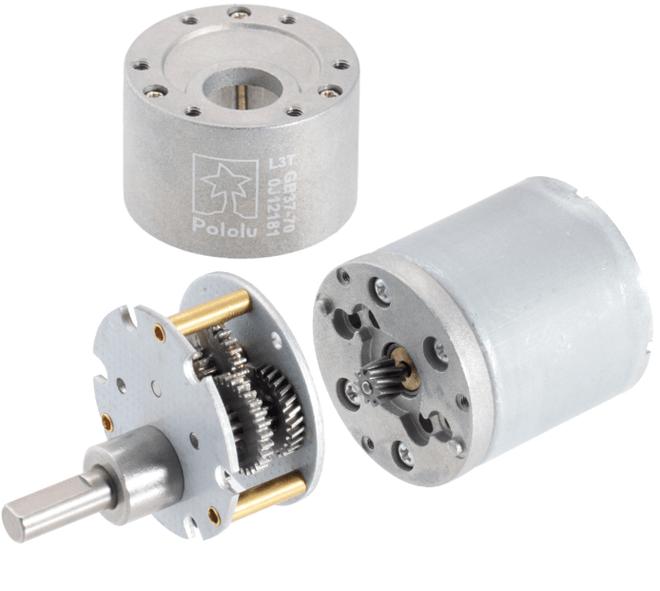 12V 37mm 540 Rpm 19:1 DC Gearmotor