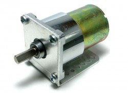 12 V 42 mm 200 RPM Redüktörlü DC Motor - Thumbnail