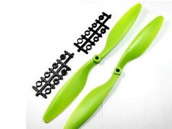 China - 12x 4.5 Propeller Set - CW & CCW - green