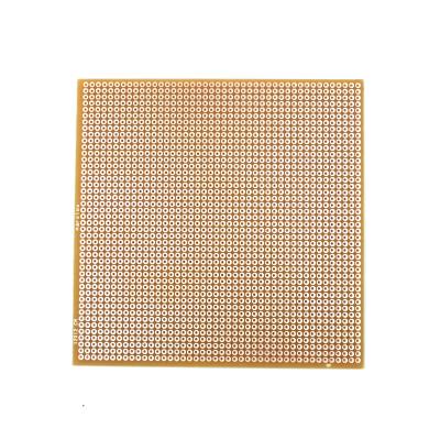 12x12 cm Delikli Pertinaks Tek Yüzlü