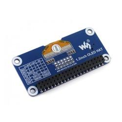 WaveShare 1.3 inch OLED Ekran HAT (Raspberry Pi için) - 128x64 - Thumbnail