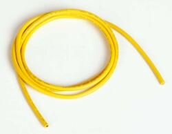 China - 14 AWG 1 Metre Silikon Kablo - Sarı