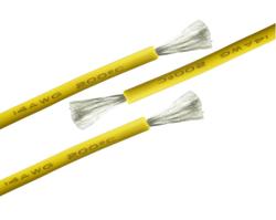 14 AWG 1 Metre Silikon Kablo - Sarı - Thumbnail