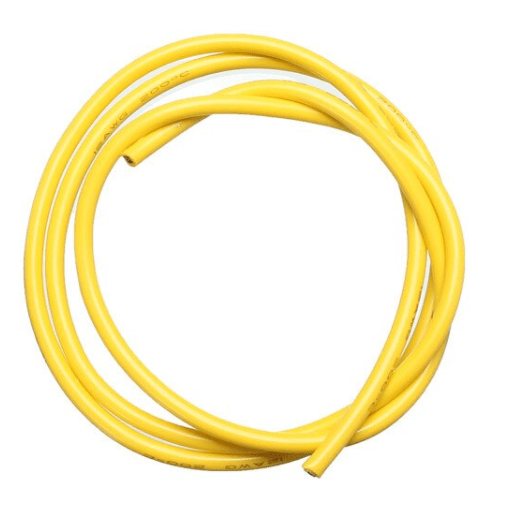 14 AWG 1 Metre Silikon Kablo - Sarı