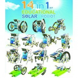 Image of 14 Pack Solar Educational Robot
