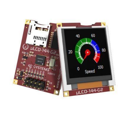 1.44 Inch Arduino LCD Display Shield - uLCD-144G2-AR