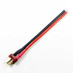China - 14AWG - T Plug - Deans Erkek - 10 cm Silikon Kablo