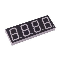 Robotistan - 14mm 4-Digit Common Anode 7-Segment Display - Red