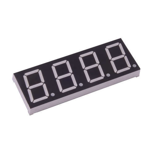 14mm 4-Digit Common Anode 7-Segment Display - Red