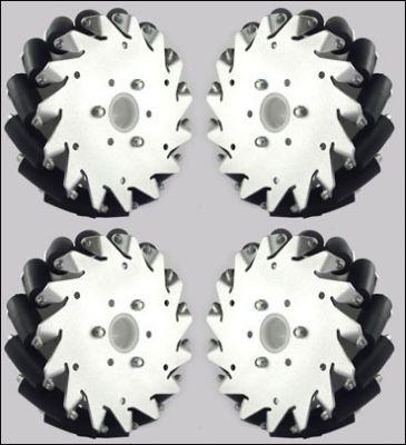 152mm Aluminum Mecanum wheels Set (2Left, 2Right) Basic 14165