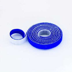 China - 15mm Wide Velcro (loops & hooks integrated) 1 Meter Blue