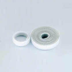 15mm Wide Velcro (loops & hooks integrated) 1 Meter White - Thumbnail