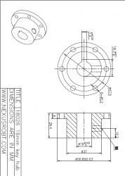 16 mm Kama Boşluklu Alüminyum Göbek - Universal, 18026 - Thumbnail