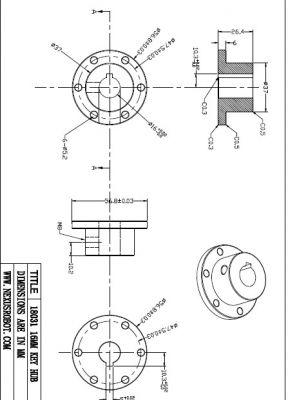 16 mm Kama Boşluklu Çelik Göbek - Universal, 18031