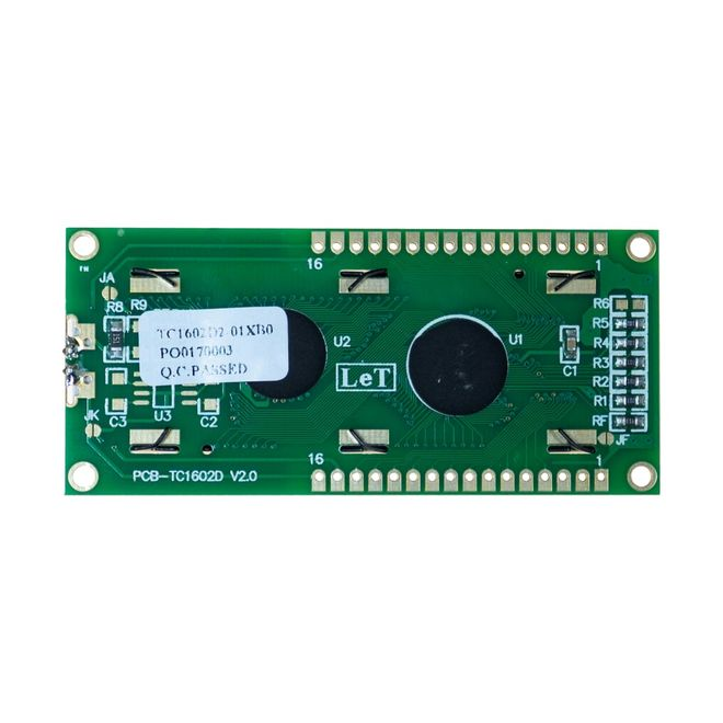 2x16 LCD Ekran - Yeşil Üzerine Siyah - TC1602A