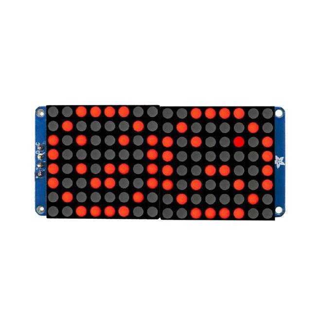 16x8 1.2 Inch I2C Bağlantılı Led Matris (Kırmızı)
