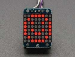 16x8 1.2 Inch I2C Bağlantılı Led Matris (Kırmızı) - Thumbnail