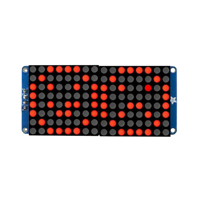 """16x8 1.2"""" I2C LED Matrix (Red)"""