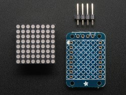 "16x8 1.2"" I2C LED Matrix (Red) - Thumbnail"