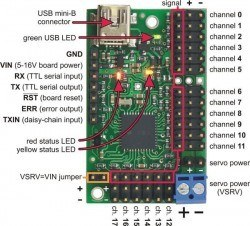 18 Channel USB Servo Motor Control Board - Thumbnail