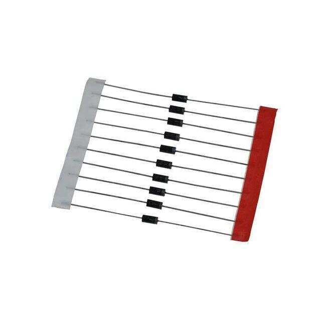 1N4001 - 50 V 1 A Aksiyel Tipli Diyot Paketi - 10 Adet
