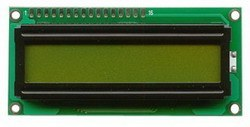 China - 1x16 LCD Screen, Black Over Green - TC1601A-01XB0