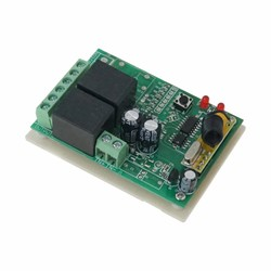 Robotistan - 2 Channel 433 MHz Wireless RF Relay Board with Receiver - in Box