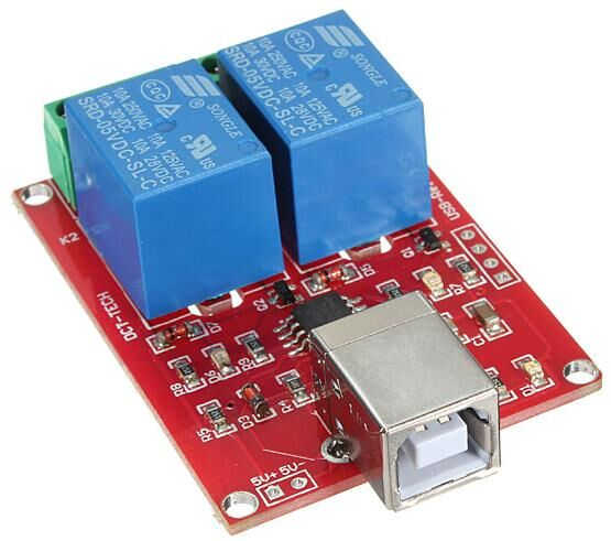 2 Kanal 5V Röle Kartı - USB Kontrollü